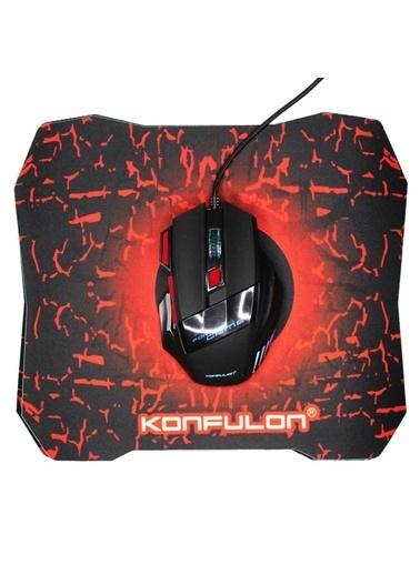 Techmaster Techmaster Konfulon G2 Gaming RGB Işıklı Kablolu Gamer Mouse + Mouse Pad Renkli